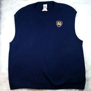 adidas Mens Navy Blue Pullover Sweater Vest ND XL